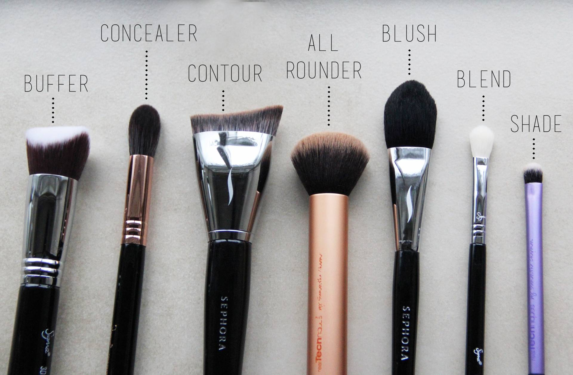 The Essential Makeup Brushes Nimi Notes